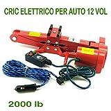 081 Store - CRIC CRICCO CRICK SOLLEVATORE ELETTRICO SOLLEVAMENTO AUTO 12V PORTATILE 2200