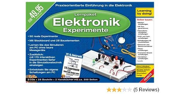 Lernpaket Elektronik-Experimente mit dem PC, 2 CD-ROMs u. 28 ...