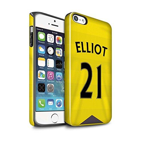 Offiziell Newcastle United FC Hülle / Glanz Harten Stoßfest Case für Apple iPhone 5/5S / Shelvey Muster / NUFC Trikot Home 15/16 Kollektion Elliot
