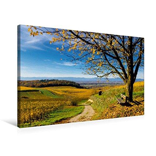 Premium Textil-Leinwand 75 x 50 cm Quer-Format Bunter Kaiserstuhl im Herbst | Wandbild, HD-Bild auf Keilrahmen, Fertigbild auf hochwertigem Vlies, ... in Richtung Vogesen (CALVENDO Natur)