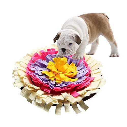 True-Ying Haustier-Spielzeug, fördert natürliche Futterfähigkeitsmatte, runde Hunde-Futtermatte, waschbare Trainings-Decke -