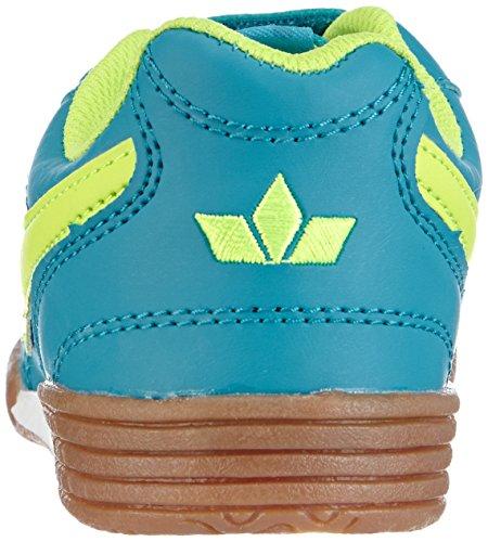 Lico Bernie V 360280, Chaussures de sports en salle fille Turquoise (petrol/lemon)