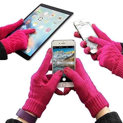 Urcover® Touch Screen Handschuhe für alle Smartphones und Tablets [Smartphone Handschuhe] Display Gloves Bildschirm Eingabe Handschuhe Pink