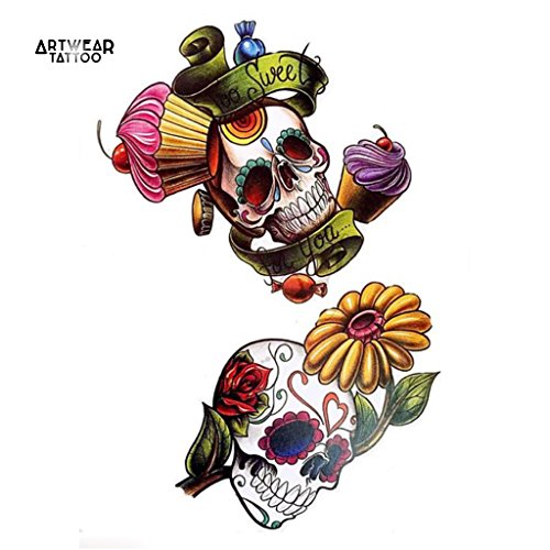 temporare-tatowierung-temporary-tattoo-cup-cakes-skulls-artwear-tattoo-skull-b0212-m
