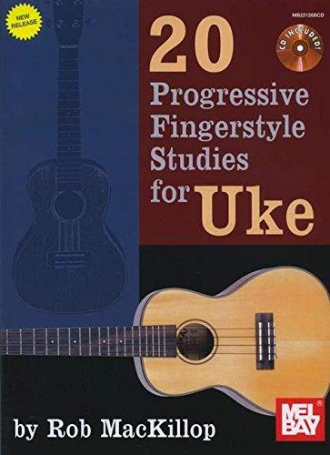Mackillop Rob 20 Progressive Fingerstyle Studies For Uke Ukulele BK/CD