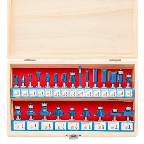 Hiltex 10108 Tungsten Carbide Router Bit Set, 24 Piece | 1/4-Inch Shank -