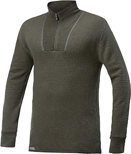 Woolpower Damen Herren Funktionsshirt Zip Turtleneck 400 Long Sleeve, Größe:XL, Farbe:Pine Green