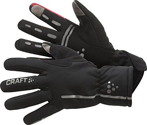 Craft Radhandschuh Lang Siberian Gloves, Schwarz/Rot, 10/Large, 1901623-9430-10