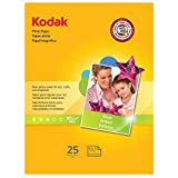 Kodak Glossy Photo Paper, 8.5 x 11 Inches, 25 Sheets per Pack (1912369)
