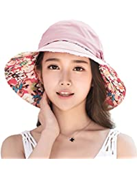 Siggi Ladies Bucket Summer Sun Hat Foldable Beach Cap Wide Brim UPF50+  Packable for Women 0e7e9094a5bc
