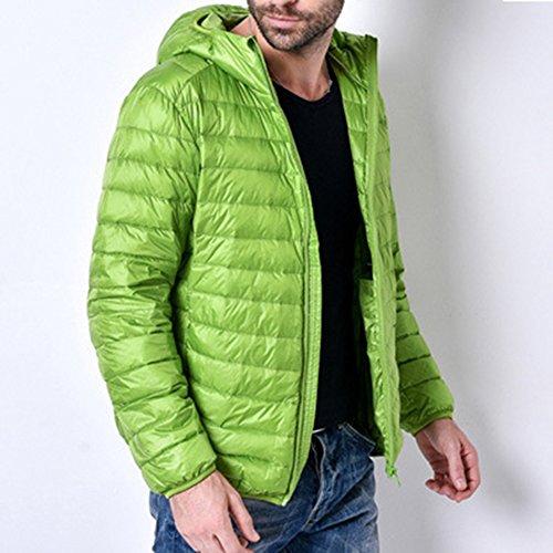 Highdas New Down Jacket Men Manteau Hiver 90 Canard Doudounes Hommes Capuche Ext¨¦rieur Hiver Parka Vert