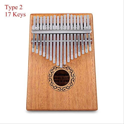 Xjwq Daumen Klavier Tragbare B - 17 T 17 Tasten Kalimba Daumen Klavier Mahagoni Körper Musikinstrument Solid Wood Kalimba Mbira Daumen Paino Typ 2