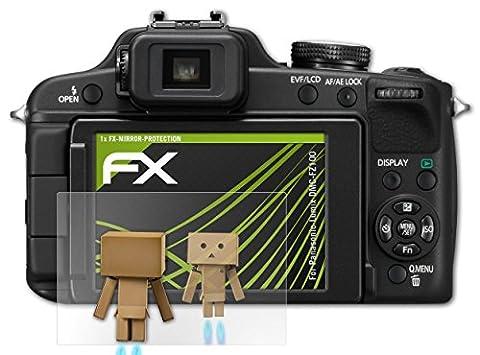 Panasonic Lumix DMC-FZ100 Spiegelfolie - atFoliX FX-Mirror Displayschutz mit Spiegeleffekt