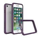 RhinoShield Coque pour iPhone 8 / iPhone 7 [Bumper CrashGuard] Housse Fine avec Technologie Absorption des Chocs - Compatible Recharge Induction [Résiste aux Chutes de Plus de 3,5 mètres] - Violet
