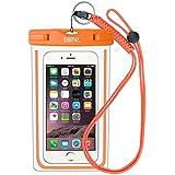 EOTW Housse étanche, Certifiée IPX8 pour Téléphone de taille égale et inférieure à 6'', argent, écran solaire bâton, carte/ID etc, idéal pour natation, la plage, pêche, la randonnée (Orange)
