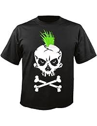 "T-Shirt ""Punk Shirt - Punker Skull - Gothic - Motorcycle Shirt - motorrad - Rocker Motive - Chopper - Custom Bike - Route 66 - Motorrad Club - MC - Kutte - "" in Schwarz"