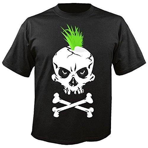 Punker Kostüm - Herren T-Shirt Motiv-600327 Größe 2XL Farbe Schwarz Druck 600327