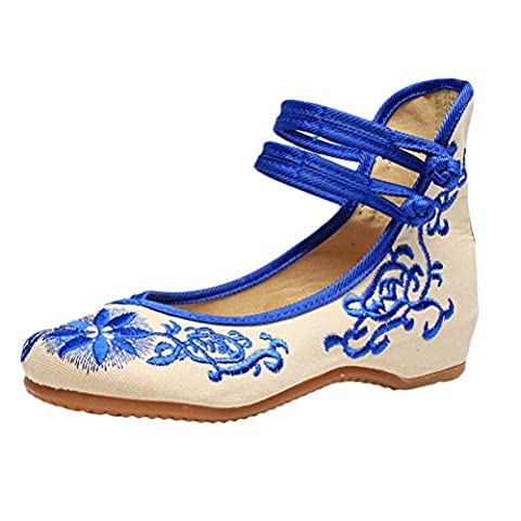 Zhhlaixing 2 Colors Women Chinese National Style Embroidered Casual Cloth shoes