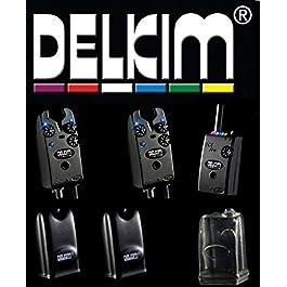 Delkim Jeu de 2 détecteurs de touche TXi Plus avec récepteur RX Plus Pro 6 Led