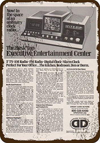 Rebecca Simpson 1978 Douglas Dunhill Tv Radio Alarm Clock Vintage Look Metal Sign 7