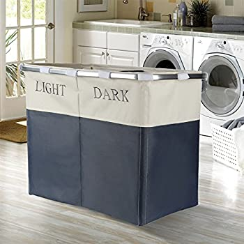 Lights And Dark Folding Laudry Basket Hamper Washing
