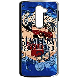 Blue Girl Logo Custom Protective Hard Phone Cae For LG G2
