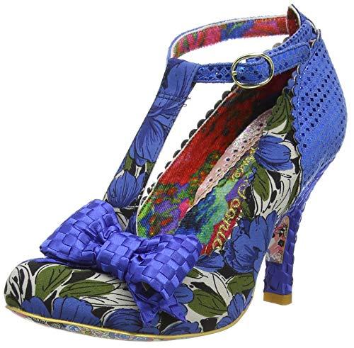 Irregular Choice Bloxy, Zapatos de tacón con Punta Cerrada para Mujer, Azul Blue Floral AG, 38 EU
