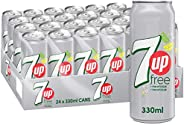 7up Free, Carbonated Soft Drink, Cans, 24 x 330 ml, 12000022913