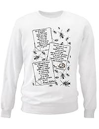 Teesquare1st Men's FRANZ KAFKA METAMORPHOSIS QUOTES White Sweatshirt