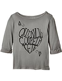DDP G1BAT0B - T-shirt - Imprimé - Col bateau - Manches longues - Fille