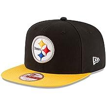 New Era Nfl Sideline 9Fifty Pitste Otc - Gorra Línea Pittsburgh Steelers para hombre, color negro, talla S-M