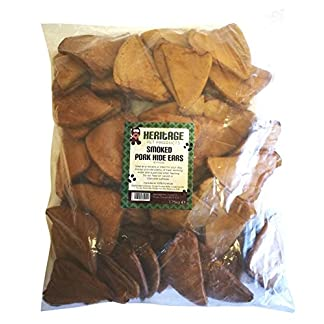 Heritage Pet Products Pigs Ears Dog Chews Smoked Pressed Pork Hide Treats Good Boy Chew 51GQMrJK0DL