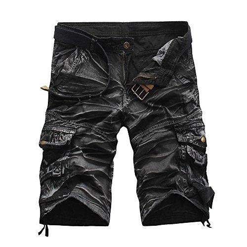 FRAUIT Herren Sport Outdoor Tasche Cargo Shorts Hose Camouflage Print Casual Arbeitshose Beiläufige Kurze Hosen -