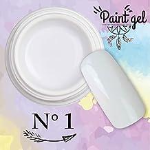 Paint Gel–Gel UV Para Nail Art 5ml–Blanco N ° 1