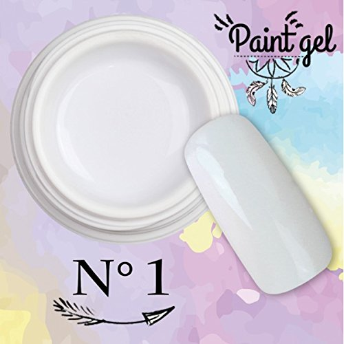 Paint Gel – Gel UV Para Nail Art 5 ml – Blanco N ° 1