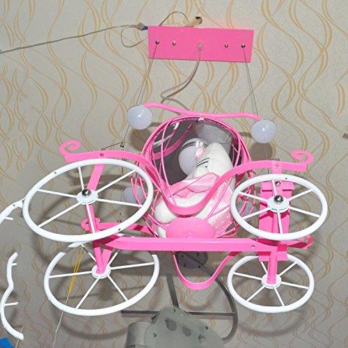 Doppel-Saug-Hängelampe Kinderzimmer Kronleuchter Kinderwagen Cartoon Jungen und Mädchen mit Schlafzimmer Deckenbeleuchtung