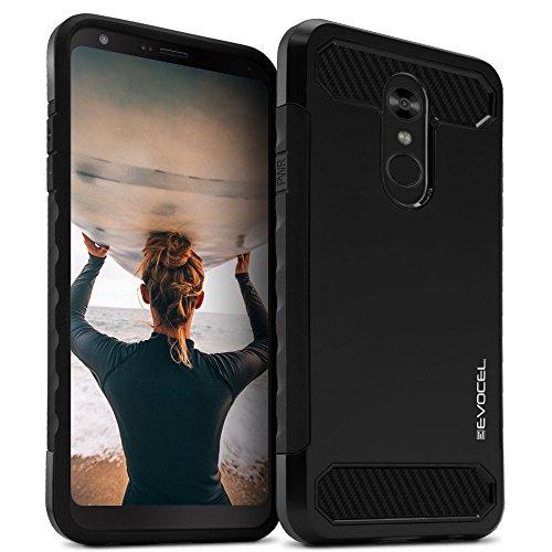 LG Stylo 4Fall, evocel [Dual Lite Serie] mit eine schlanke Leichte Profil und matt Finish für LG Stylo 4(2018), schwarz - Telefono T-mobile