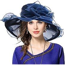 Mujeres Organza Church Derby Fascinator Sombrero Nupcial Boda Pamelas