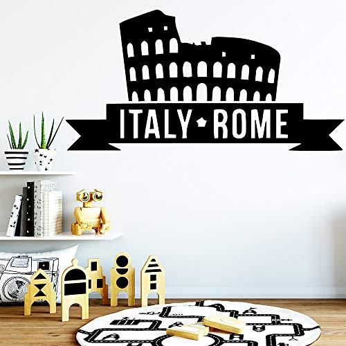 xingbuxin Moderne Italien Rom Gebäude Wandaufkleber Von Einrichtungs Dekorative Tapete Vinyl Aufkleber Dekoration Zubehör rosa L 42 cm X 83 cm -