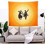 Ars-Bavaria - Tappeto da parete, motivo etnico indiano con mandala, ideale per yoga, salotto, camera da letto 79 * 59in Wandlovers