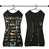 KRIO Designs BLACK Color Jewelery Organizer Hanging Dress Jewellery Jewelry Bag Double Sided for Necklaces Chains Earrings Watch Pendants Cosmetics