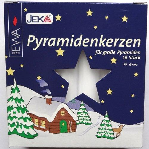 Candele per piramide bianchi, grande 18