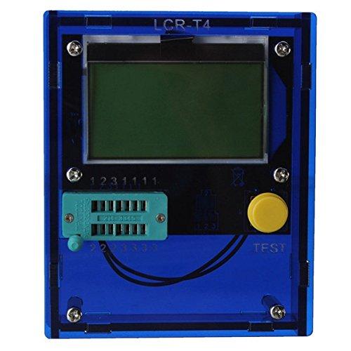 Bluelover Lcr-T4 Transistor Tester Diode Triode Lcd Esr Meter Induktivität Mit Gehäuse -Blue