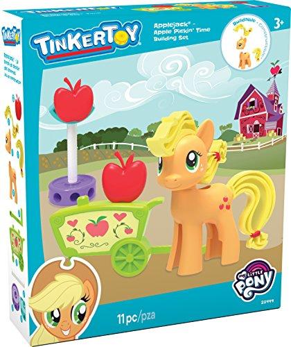K'Nex TINKERTOY My Little Pony Applejack Apple Pickin' Time Building Set para Edades 3 y Superior, Juguete Preescolar, 11 Piezas
