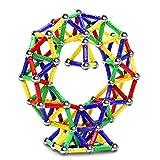 Jvchengxi 144 Stuks Magnetische Stokken Kit, Magnetisch Stokken Constructie Speelgoed Set, Creatief en Educatief Hersentrainings Stapelen Bouw Speelgoed voor Kinder (Meer dan 5 jaar oud)