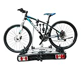 Bicycle Carrier Rear Rack with Adjustable Wheel - Easy to Install and Easy to Load and Unload Bicycles
