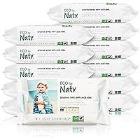 Naty By Nature Babycare - Sensitive Wipes - Toallitas húmedas con Aloe Vera - 12 x 56 toallitas