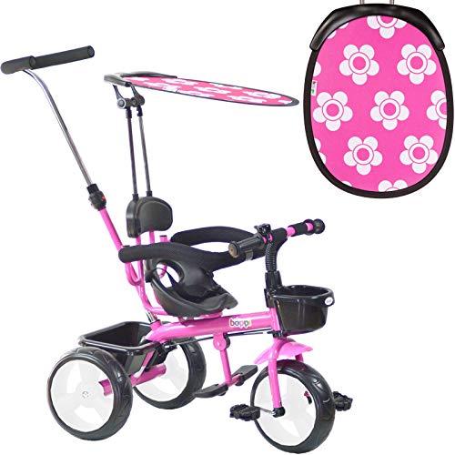 boppi 4-in-1-Dreirad für Kinder Rosa