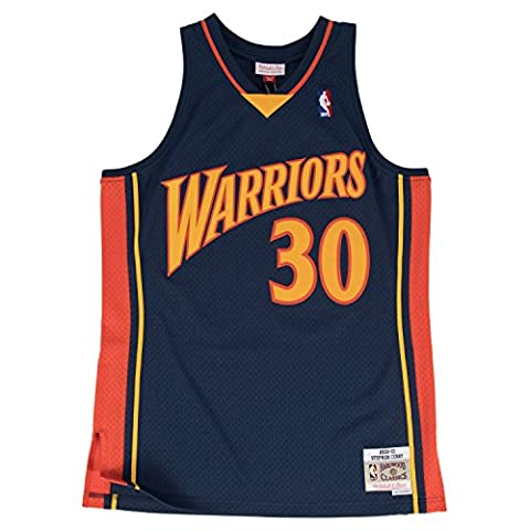Stephen Curry Golden State Warriors Mitchell & Ness NBA Throwback Jersey Maillot - Navy