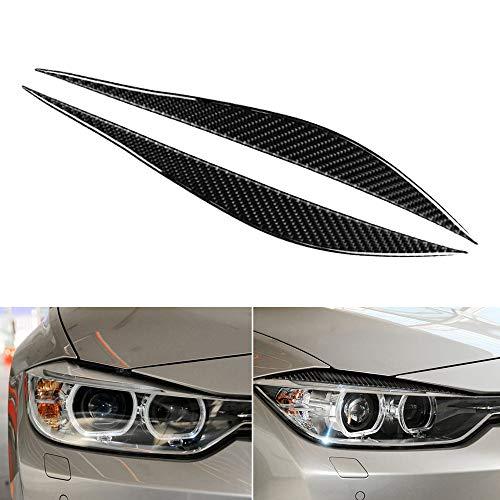 Carrfan Front Scheinwerfer Augenbrauen Dekorativ Cover Sticker Kohlefaser für BMW F30 F31 F32 F33 F34 (2012-2020)